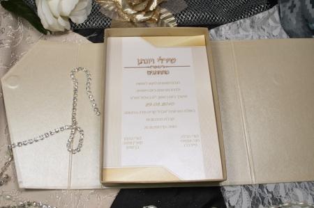 הזמנות לחתונה קופסאות b103 פתוח עם מגנט סגירה